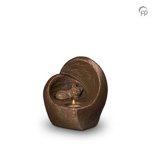 UGK 214 Keramische dierenurn brons