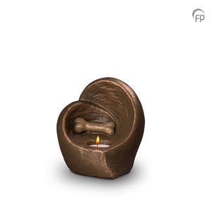 UGK 215 Keramische dierenurn brons