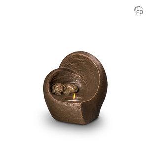 UGK 216 Keramische dierenurn brons