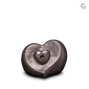 UGKS 201 Keramische dierenurn zilver