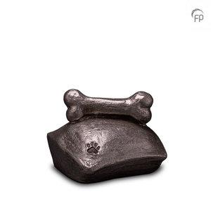 UGKS 202 Keramische dierenurn zilver