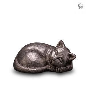 UGKS 210 Keramische dierenurn zilver