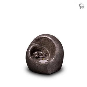 UGKS 216 Keramische dierenurn zilver