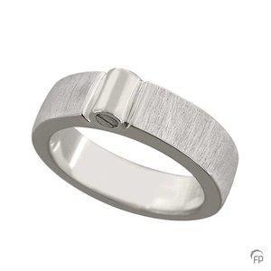 R 038.6M Asche Schmuckstück Ring matt