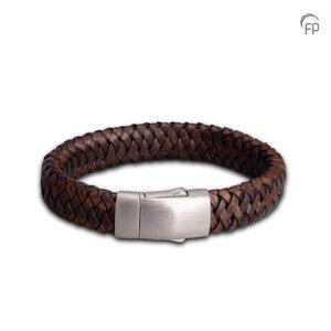 FPU 602 Embrace Armband Gevlochten Leder Zwart