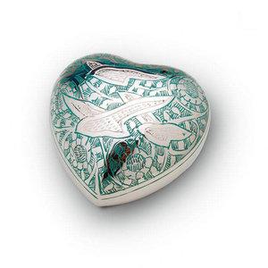 HUH 002 Messing Mini-Urne Herz