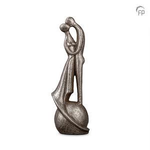UGKS 504 Keramische urn zilver - I loved and lost you