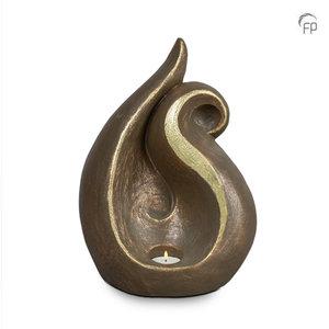 UGK 083 BT Keramische urn brons Wonden zullen genezen