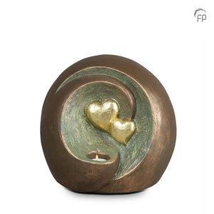 UGK 075 BT Keramische urn brons Eeuwige verbintenis (Waxine)
