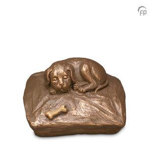 UGK 218 Keramische dierenurn brons