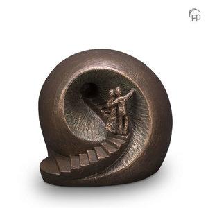 UGK 041 D Keramische Duo urn brons Afscheid