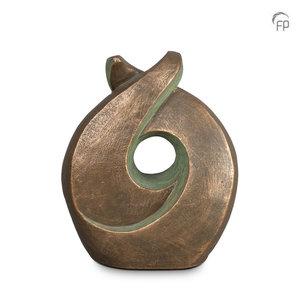 UGK 009 B Keramische urn brons Licht