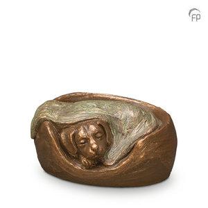 UGK 217 Keramische dierenurn brons