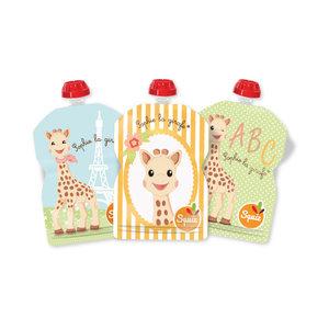 3 knijpzakjes ~ 90 ml ~ Sofie de Giraf