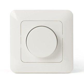 LED-vriddimmer 230 V 1-200 W inkl. täckplatta