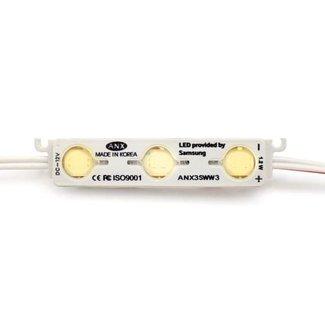 LED-modul 3000K varmvit 3x5630 SMD 12V (50 st)