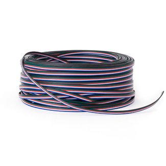 Förlängningskabel för LED-lister 5-ledare AWG22 RGBW 50 m