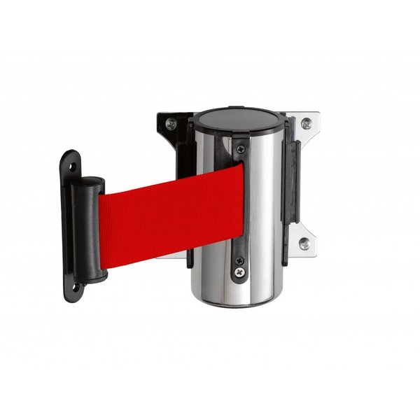 Saro Muursysteem voor Afzetpaal   3 meter Rood Band   Model PW 3 R