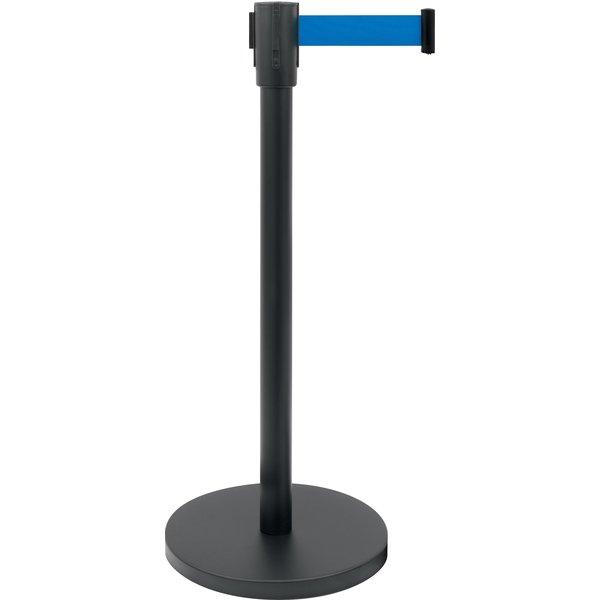Saro Zwarte Afzetpaal en Blauwe  Band   180 cm.   Ø 360 x H 915 mm.