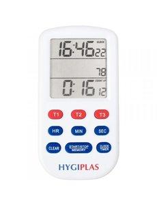 Hygiplas Kookwekker Digitaal Drievoudig | Met Multifunctioneel Interface