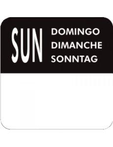Label stickerrol voor weekdag Zondag