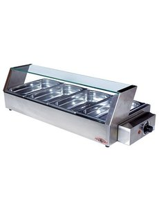 Stilfer Bain-Marie warmhoudvitrine | GN 1/3 | 3x4-40mm