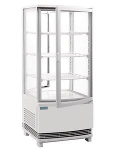 Polar C-serie Witte Koelvitrine met Gebogen Deuren | 86 Liter