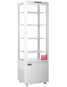Polar C-serie Witte Koelvitrine met Gebogen Deur | 235 Liter