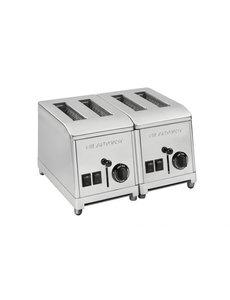 Milan Toast Broodrooster met 4 Sleuven | 3200Watt | 230V