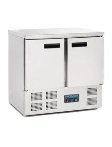 Polar G-serie Koelwerkbank met 2 Deuren 240 Liter | +2°C tot +5°C | 88Hx90x70cm.
