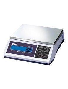 CAS Elektronische weegschaal tot 6 kg | Gradatie 0.2 gr. | Plateau 31x22cm