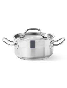 Hendi Kookpan met Deksel  Profi Line | Laag | Keuze uit 5 maten