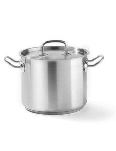 Hendi Kookpan met Deksel Kitchen Line | Hoog model | Keuze uit 5 maten