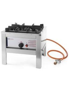 Hendi Big Flame Hokker voor Propaangas  | 6.7kW | 425x425x(H)400 mm