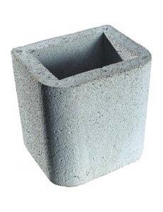 Buschbeck Opzetstuk schoorsteen grijs beton | 34x34cm