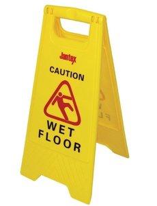 "Jantex Waarschuwingsbord | "" Wet Floor "" | Hoogte 64 cm."