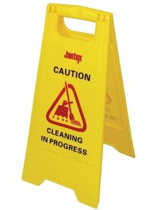 "Jantex Waarschuwingsbord | ""Cleaning in Progress"" | Hoogte 64 cm."