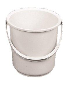 Jantex Emmer 8 Liter kunststof wit | Met maataanduiding