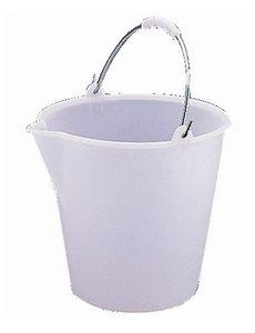 Jantex Jantex Kunststof Emmer met Schenktuit 12 Liter | Wit