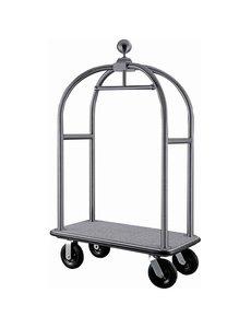 Bolero Bagage Trolley met Hangerrail | Geborsteld RVS