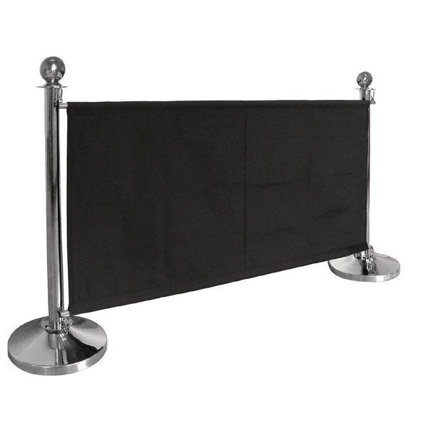 Bolero Afzetdoeken Bolero voor Afzetpalen | Zwart Canvas Afzetdoek | 70 x 143 cm.