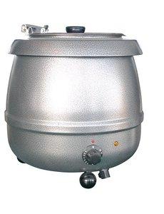 Bistro Soepketel 10 Liter | 475Watt | Au Bain Marie | Grijs
