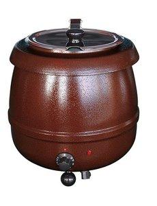 Bistro Soepketel 10 Liter | 475Watt | Au Bain Marie | Bruin