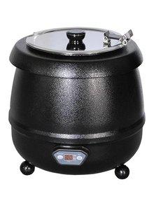 Bistro Soepketel 10 Liter | Au Bain Marie | Zwart