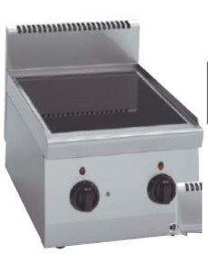 Bartscher Keramisch Kooktoestel met 2 Zones   400V / 4.3kW   B40xD60xH29 cm.