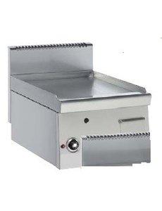 Bartscher Grillplaat op Gas | Gladde Plaat | 4.6kW Gas | B40xD60xH29 cm.