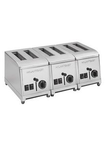 Milan Toast Broodrooster met 6 Sleuven RVS   4800Watt   230V
