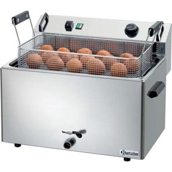 Bartscher Bakkerij Friteuse met Aftapkraan  16 liter | 400V / 9kW |  50 °C tot 190 °C |  B560xD470xH400 mm