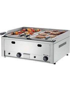 Bartscher Aardgas Lavasteen Grill met Grillrooster voor Vlees | 8kW |  B660 x D570 x H282 mm