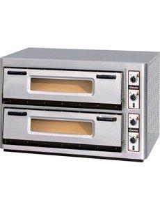 Bartscher Pizzaoven   Voor 2x 6 Pizza's Ø 30 cm.   400V / 12kW   NT 921